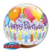 Gyertyás Születésnapi Bubbles Léggömb