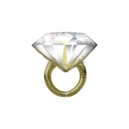 Gyémánt Gyűrű Esküvői Fólia Lufi