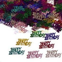 Happy Birthday Feliratú Szülinapi Parti Konfetti - 14 gramm