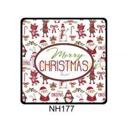 Hűtőmágnes Merry Christmas tapétás – Karácsonyi Ajándékok