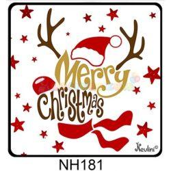 Hűtőmágnes Merry Christmas Rudolf – Karácsonyi Ajándékok
