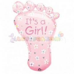 It's a Girl Foot Super Shape Fólia Lufi Babaszületésre 82 cm