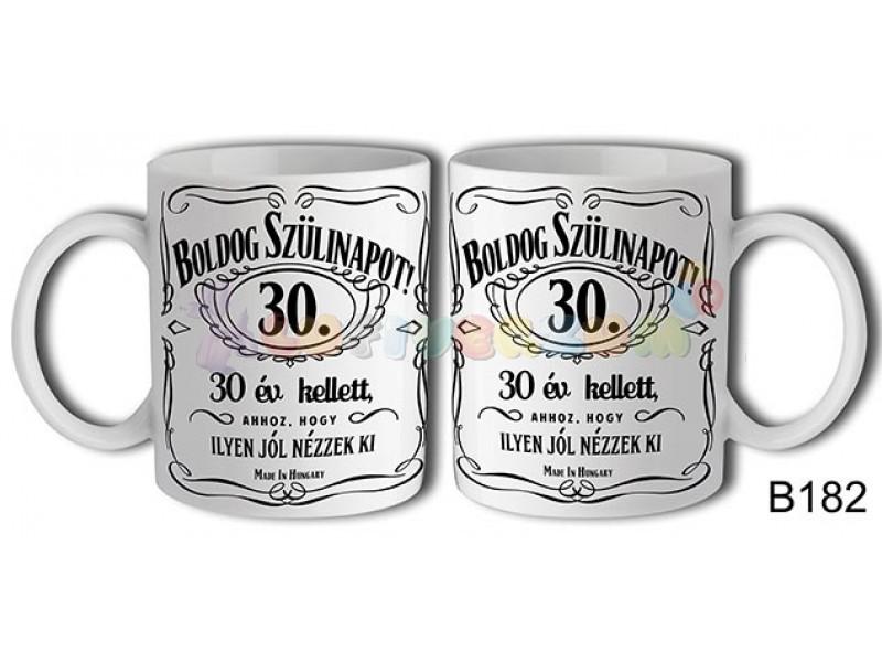 c5ef2f32f5 Boldog Szülinapot Jack 30 – Születésnapi bögre - lufi bolt héliumos ...