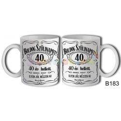 Boldog Szülinapot Jack 40 – Születésnapi bögre