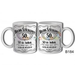 Boldog Szülinapot Jack 50 – Születésnapi bögre