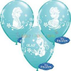 Jégvarázs - Frozen Anna, Elsa, Olaf latex léggömb -  28 cm