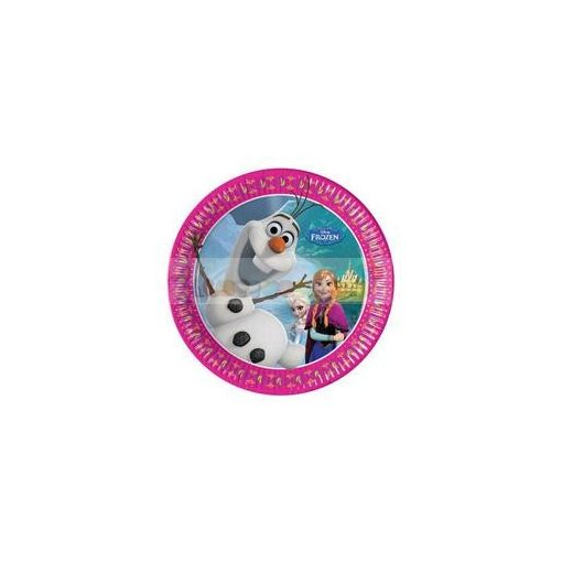 Frozen - Jégvarázs Parti Tányér - 20 cm, 8 db-os