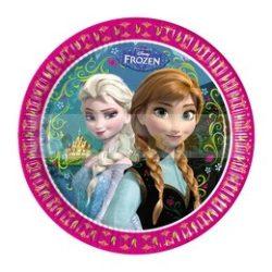 Frozen - Jégvarázs Parti Tányér - 23 cm, 8 db-os