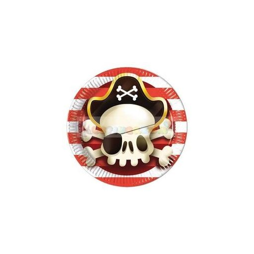 Powerful Pirates Parti Tányér - 23 cm, 8 db-os