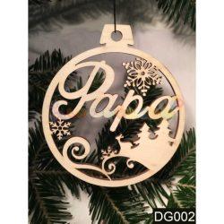 Karácsonyfa díszek – Papa – Karácsonyi ajándék ötletek