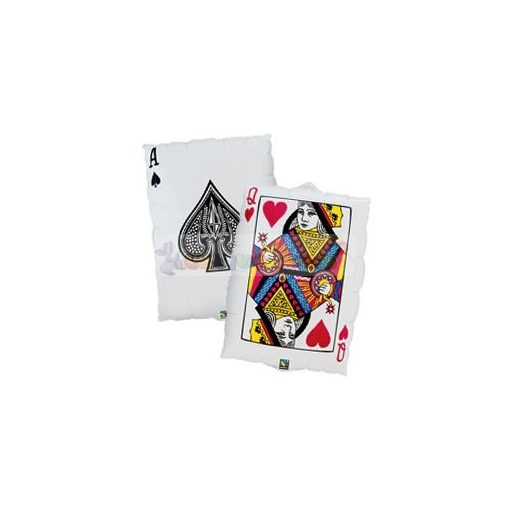 Kártyalap - Queen of Hearts/Ace of Spades Fólia Lufi