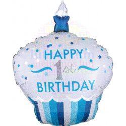 Muffin Alakú Fiú Első Születésnapi Léggömb