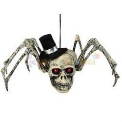 Koponyás Pók Dekoráció Halloweenre