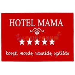 Vicces gumis lábtörlő - Hotel Mama piros