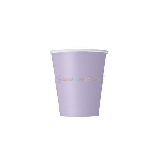 Levendula Papír Parti Pohár - 270 ml, 8 db-os