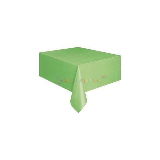 Lime Zöld Műanyag Party Asztalterítő - 137 cm x 274 cm