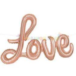 Rosegold LOVE Rózsaarany - Rose Gold Levegős Fólia Lufi