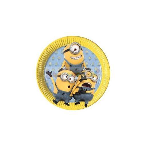 Lovely Minions Parti Tányér - 23 cm, 8 db-os