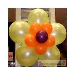 Léggömb virág dekoráció 50 cm x 50 cm