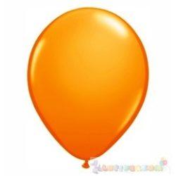 40 cm-es latex Qualatex party léggömb - narancssárga