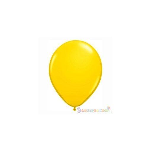 40 cm-es latex Qualatex party léggömb - sárga