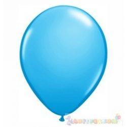 40 cm-es latex Qualatex party léggömb - tenger kék