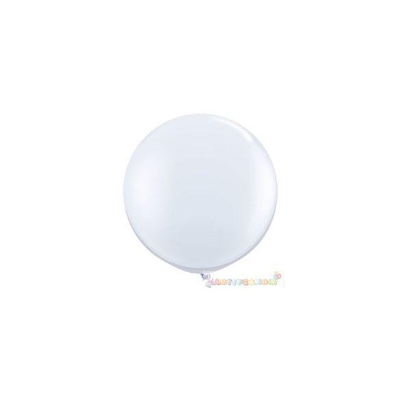 91 cm-es latex Qualatex party léggömb - fehér