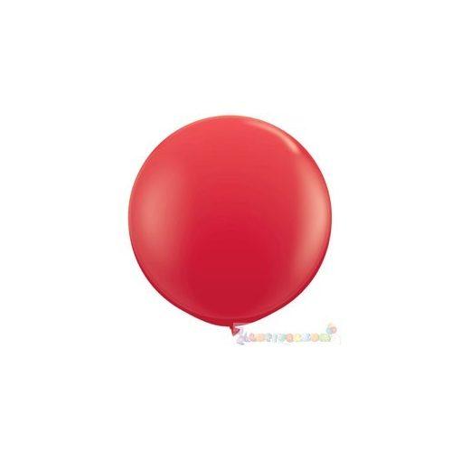 91 cm-es latex Qualatex party léggömb - piros