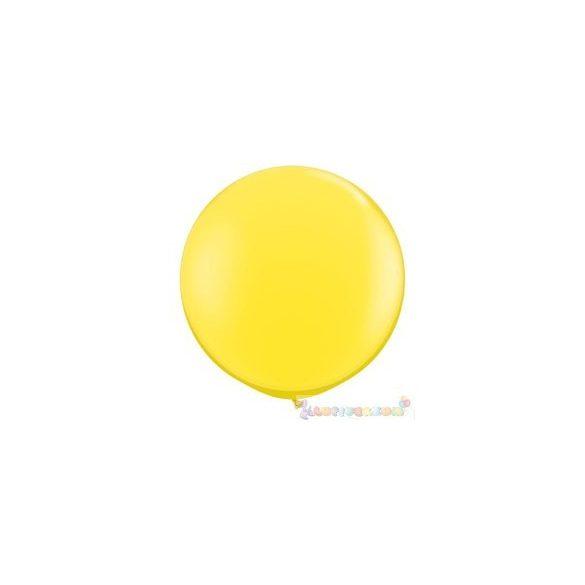 91 cm-es latex Qualatex party léggömb - sárga