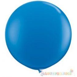 91 cm-es latex Qualatex party léggömb - sötét kék