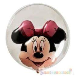 61 cm-es Minnie egeres bubbles léggömb