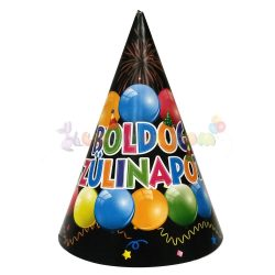 Boldog születésnapot feliratos party csákó - 6 db-os