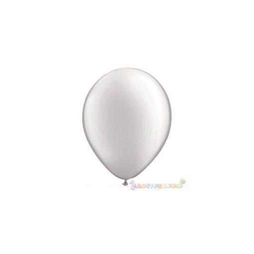 28 cm-es Fehér GYÖNGYHÁZ latex Qualatex party Lufi Darabra