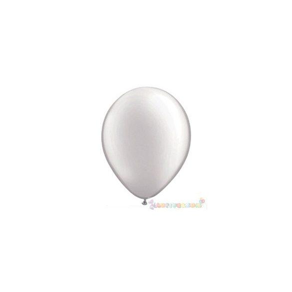 Fehér GYÖNGYHÁZ 28 cm-es latex Qualatex party lufi