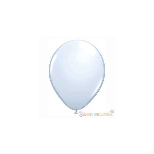 Fehér 28 cm-es latex Qualatex party lufi