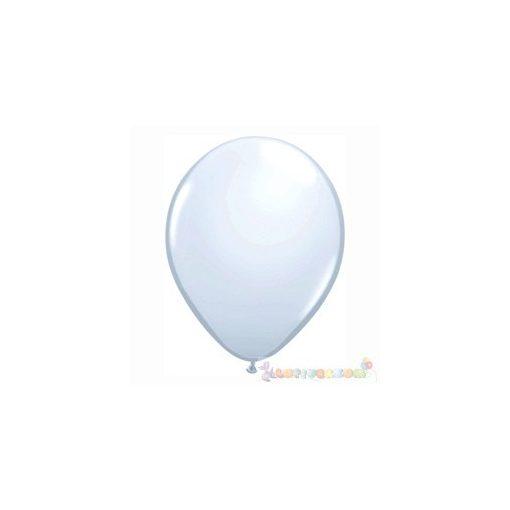 28 cm-es fehér latex Qualatex party Lufi Darabra