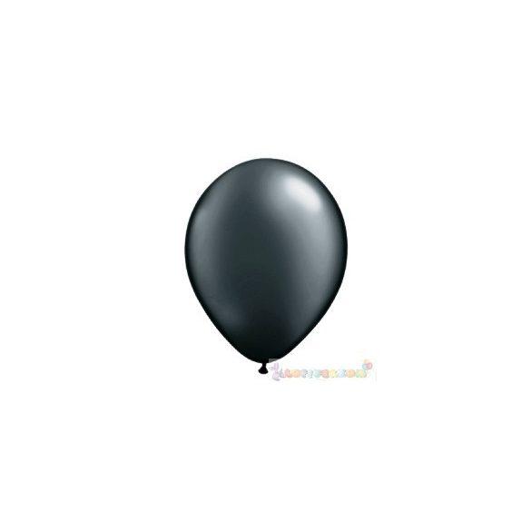 Fekete 28 cm-es latex Qualatex party lufi