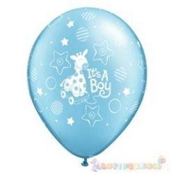 28 cm-es latex Qualatex party lufi kisfiú babaszületés