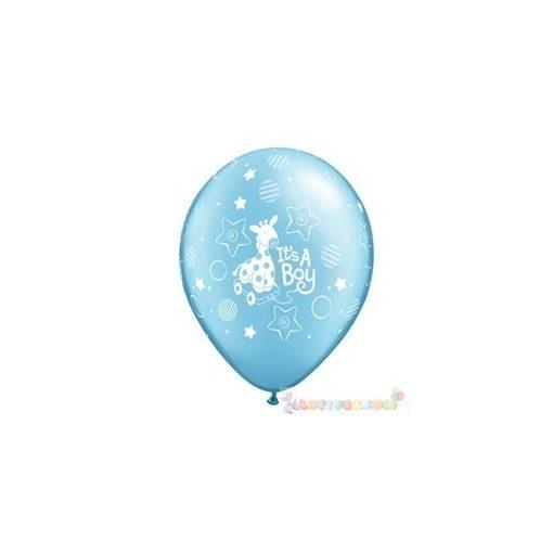 28 cm-es latex Qualatex party Lufi Darabra kisfiú babaszületés
