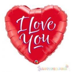 45 cm-es I Love You feliratos, szeremes fólia lufi 133