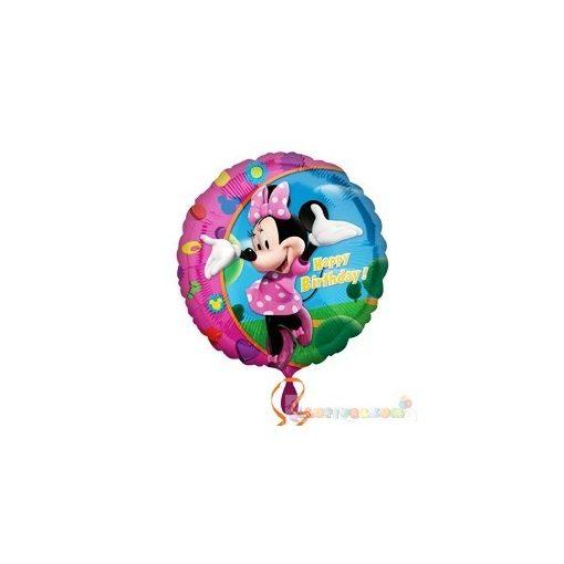 45 cm-es Minnie Mouse szülinapos fólia lufi