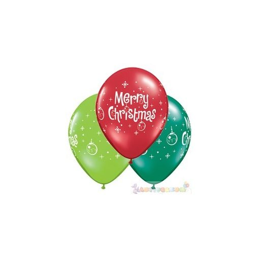 Merry Christmas feliratos latex léggömb - 28 cm