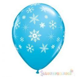 Hópehely mitás latex léggömb - 28 cm