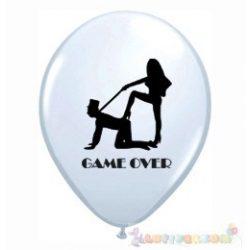 Game Over feliratos léggömb lánybúcsúra - 28 cm