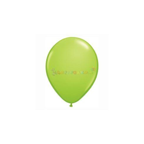 Zöld - Lime zöld 28 cm-es latex Qualatex party lufi
