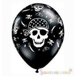 28 cm-es Pirate Skull Koponyás Kalózos Onyx Black Lufi