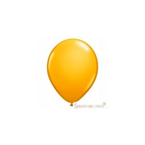 28 cm-es sárga – napsárga latex Qualatex party lufi