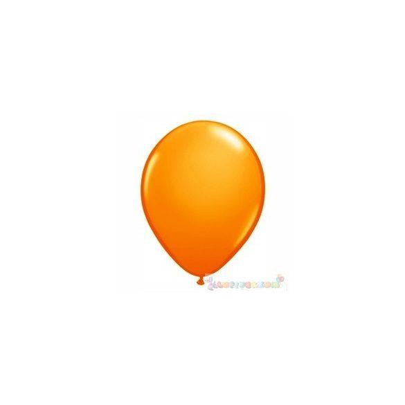 Sárga - Narancssárga 28 cm-es latex Qualatex party lufi
