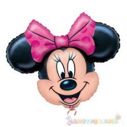 Minnie Mouse fólia léggömb pálcán - 23 cm