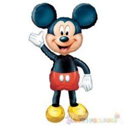 Sétáló Mickey Mouse fólia lufi - 132 cm